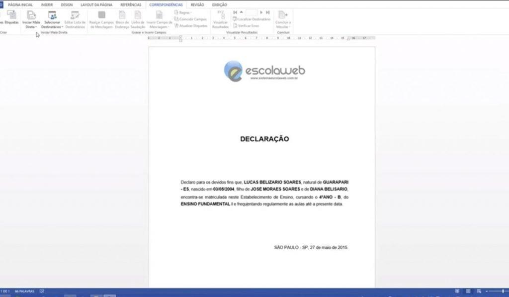 Como criar mala direta no Microsoft Word