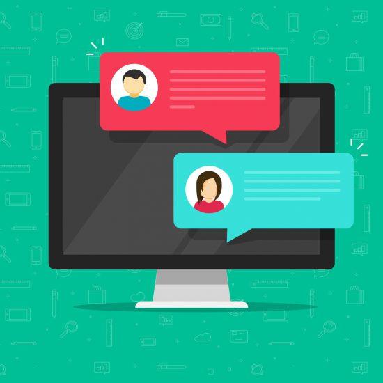 comunicação via chat